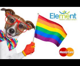 Debit Card Rainbow Dog