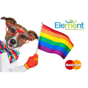 Debit Card Rainbow Dog